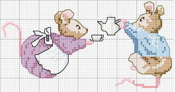 schematic cross stitch mice drink it yourself korssting pinterest souris mimi la petite. Black Bedroom Furniture Sets. Home Design Ideas