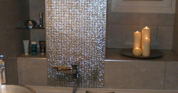 Elegante Glnzende Mosaik Fliesen Frs Bad Romantische Kerzen Badezimmer  Pinterest With Mosaik Mbel