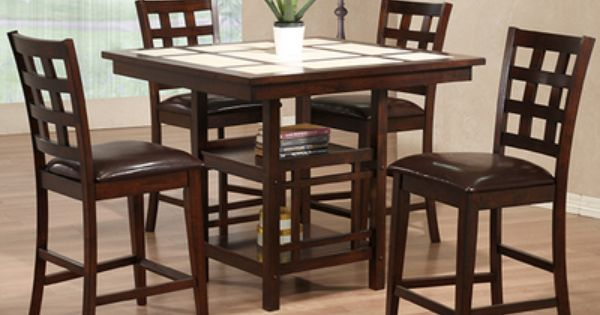 Our Alpine Dining Room Set Only 699 99 For The Table And 4 Chairs Learn More At Http Www Jarons Com Di Counter Height Dining Table Dining Table With Bench