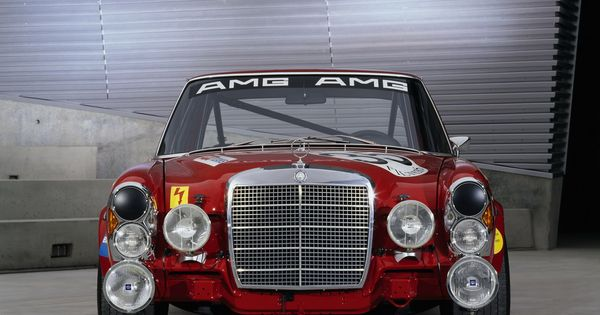 "Mercedes-Benz 300SEL 6.3 AMG, aka the ""Red Pig"""