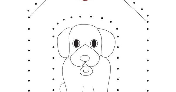 Join The Dots To Put The Dog In It Kennel And Color The