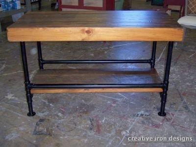 Kitchen Island Work Utility Table Unique Wood Iron Furniture Kitchen Work Tables Diy Kitchen Table