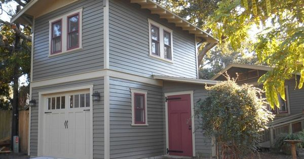 New two story garage apartment by historic shed detached Two story garage apartment