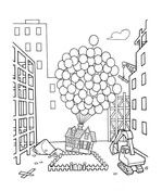 Up With Hundreds Of Balloons Coloring Page Cartoon Coloring Pages Coloring Pages Disney Coloring Pages