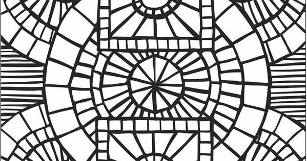 Mosaic Patterns Printable Mosaic Patterns Coloring Pages