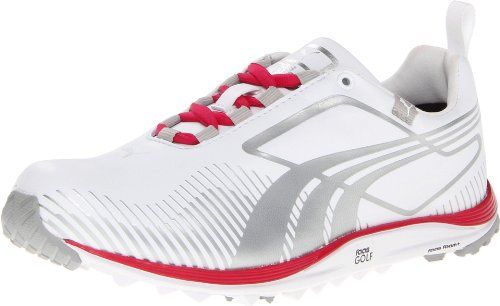 Puma Golf Footwear Womens Faas Lite Shoe,White/Puma Silver ...