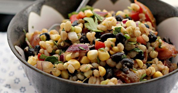 Avocado, Barley, Black Bean, and Corn Salad