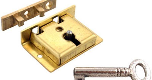 Old Locks And Keys Brass Chest Lock With Skeleton Key Skeleton Key Key Brass