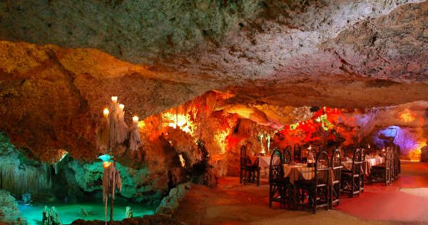 """Alux"" restaurant in Playa del Carmen...an old Mayan cave-turned-restaurant/bar"