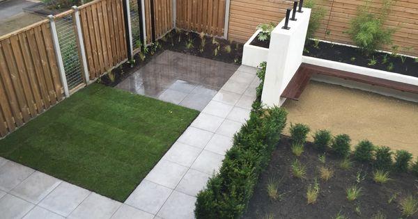 Strakke tuin keramiek tegels zwevend bankje pergola strakketuin pergola strak zwevend - Claustra ontwerp pour terras ...