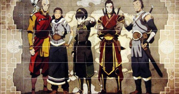 On The Basis That Aang Is 6 Tall The Characters Work Out To