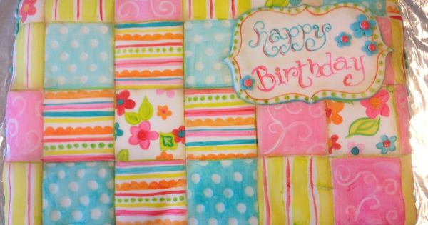 Pinwheel Quilt Sheet Cake