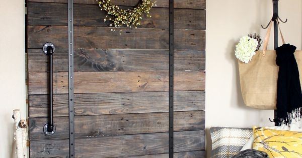 This Pallet Wood Sliding Barn Door S Good Looks Make It A