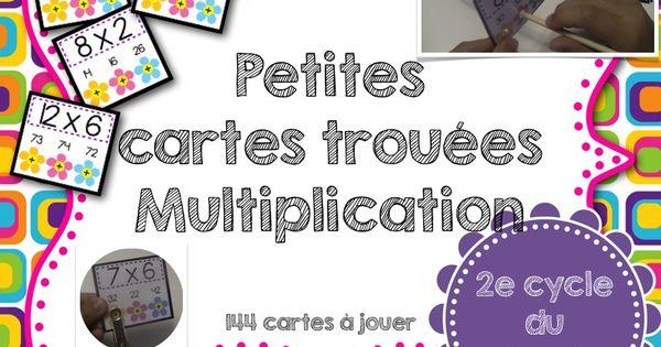Petites cartes trou es les multiplications auto - Reviser les tables de multiplications ...