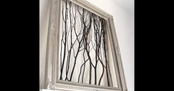 Lots of DIY wall art ideas. just need to grab some twigs,