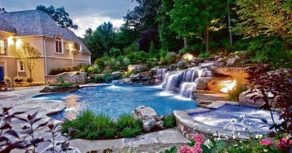Cipriano landscape design 1 350 square foot custom pool for Cipriano landscape design