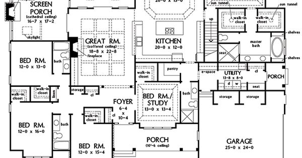 First Floor Plan Of The Harper House Plan Number 1411 Single on donald gardner craftsman house plans