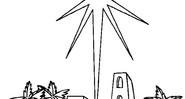 star over Bethlehem | Coloring Pages - Christian ...