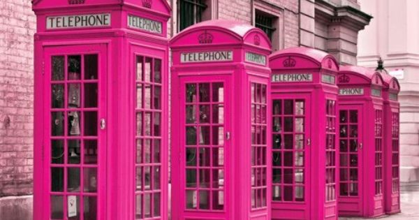 Pink Telephone Booths In London La Vie En Rose Tout Rose Fushia