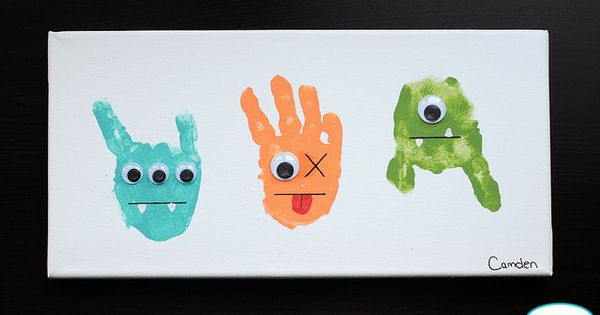 Monster hand print art!