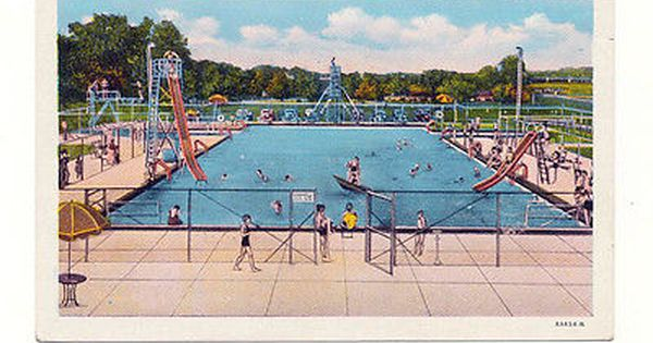 Mineral springs swimming pool pekin ill il illinois slides diving boards view more on for Swimming pool diving board tricks