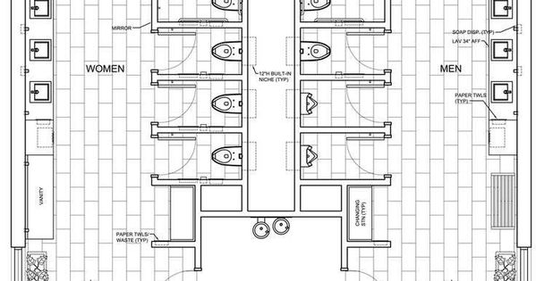 Commercial Ada Bathroom Floor Plans Public Restroom Design Google Church Rest Room Design Pinterest Bathroom Floor Plans Commercial And Toilet