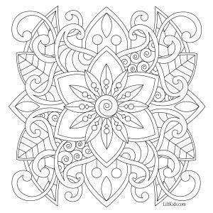 100 Free Adult Coloring Pages Easy Coloring Pages Mandala