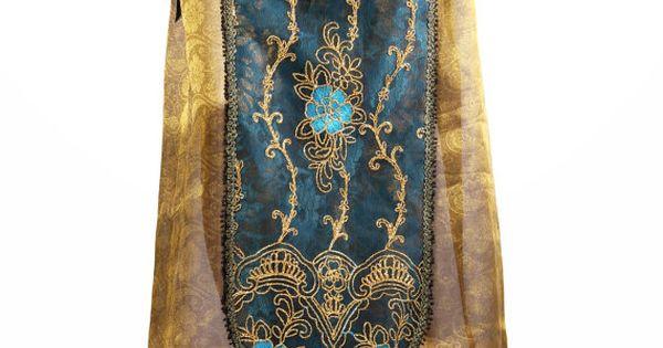2 Panel Accent Skirt, Teal, Gold, Copper, Black, Bellydance, Cabaret, Vaudeville, Fusion,