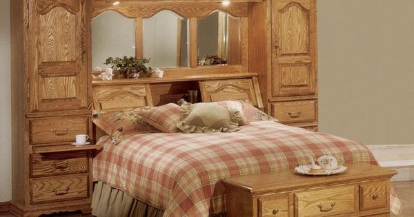 bedroom sets with mirrors details about cedar lined oak wood mirrored bed 14424