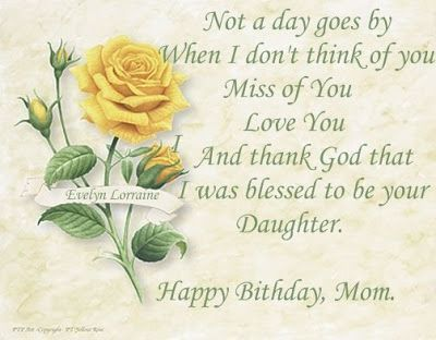 Moms Birthday In Heaven In Loving Memory Happy Birthday Mom In