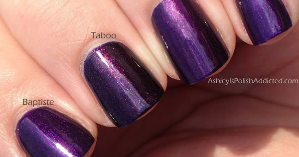Comparison Post! Chanel Taboo vs. Illamasqua Baptiste vs. China Glaze ...