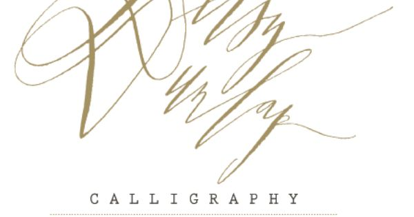 Betsy Dunlap Calligraphy Webstite Coming Soon Wedding