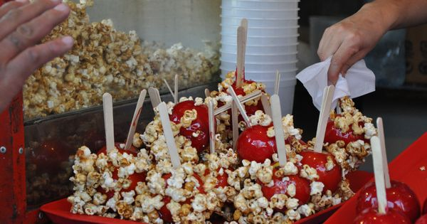 Caramel apple with popcorn manzanas de caramelo con for Artistic argentinean cuisine