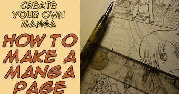 Create Your Own Manga How To Make A Manga Page Youtube Manga Drawing Manga Pages How To Make Comics