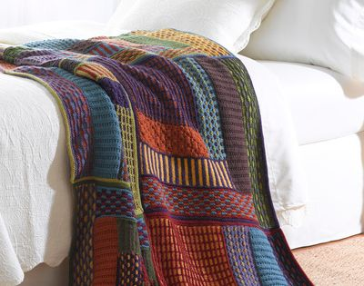 Slip Stitch Sampler Afghan Discover more best ideas about Afghans and Stitch