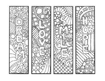 The Attached 3 Page Word Doc Product Includes 12 Bookmark Templates That Can Be Printed Fo In 2021 Coloring Bookmarks Free Printable Bookmarks Printable Coloring Pages