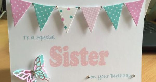 Handmade Personalised Birthday Card Cards Gift Mum Sister Auntie Cousin Friend Zeppy Sister Birthday Card Birthday Cards For Women Handmade Birthday Cards