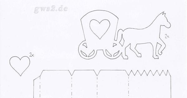 Schablone Kutsche  Ostern  Pinterest  Hochzeitskutsche, Basteln mit ...