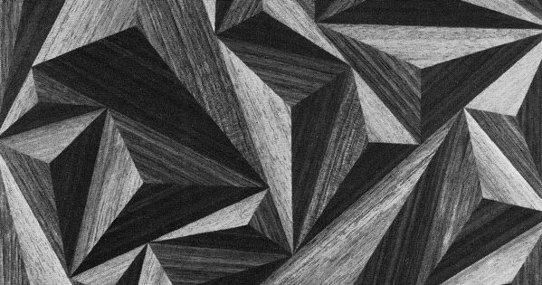 Graphic triangles, 3D geometric surface pattern; textural print pattern design inspiration