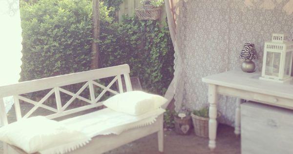 Gordijnen Kinderkamer Groen : Tuintent witte meubels en gordijnen van ...