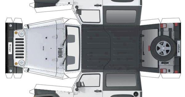 Paper Cutout Jeep Printable Amp Templates Pinterest