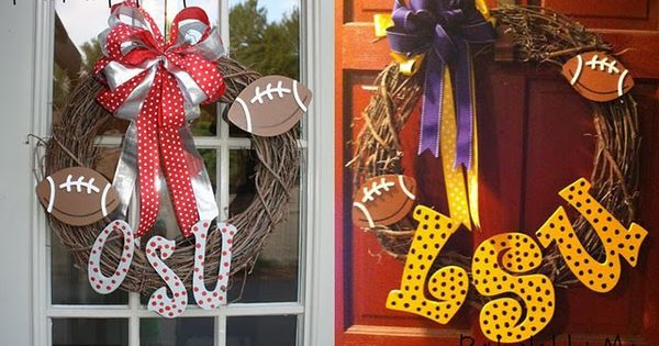 College Football Wreath idea