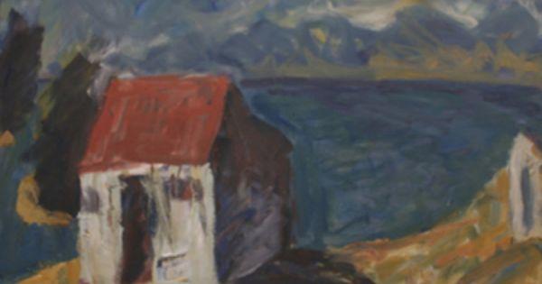 Toss Woollaston Hop House Tasman Bay 1988 New Art Painting Art