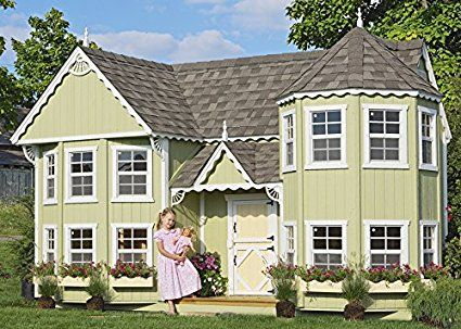 Amazon Com Little Cottage Company Sara S Victorian Mansion Diy Playhouse Kit 8 X 16 Kitchen Dining Mansions Luxury Playhouses Play Houses