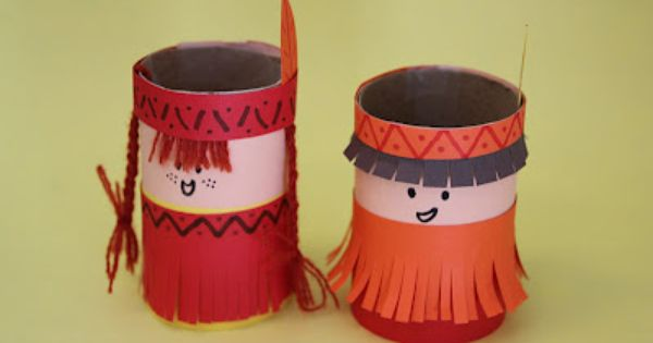 Indios Feitos Com Cones De Papel Pra Gente Miuda Artesanato