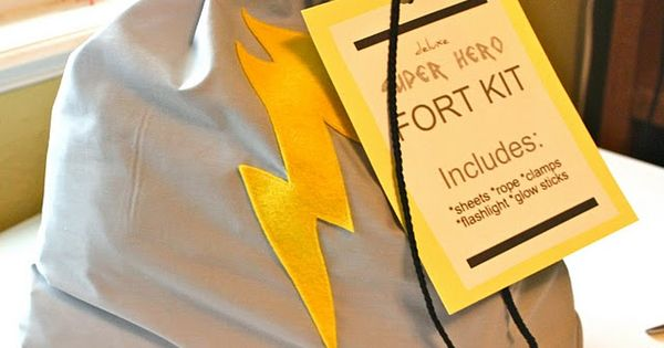 """super hero' Fort Kit fun kid gift idea"