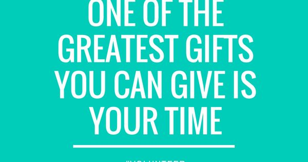 One of the greatest gifts you can give is your time. # ...
