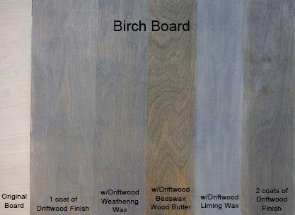 Driftwood Sample Board On Birch Wood Finishes Diy Driftwood