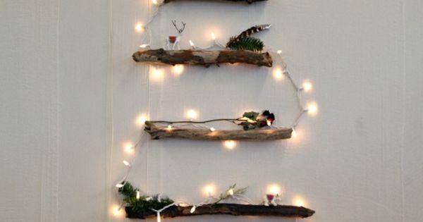 weihnachtsbaum basteln wanddekoration christbaum. Black Bedroom Furniture Sets. Home Design Ideas