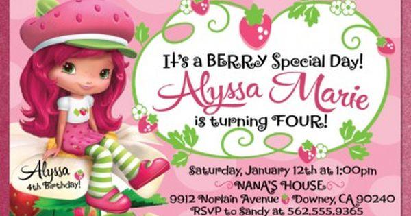 Strawberry Shortcake Invitations Template Free Strawberry Shortcake Invitations Strawberry Shortcake Birthday Strawberry Shortcake